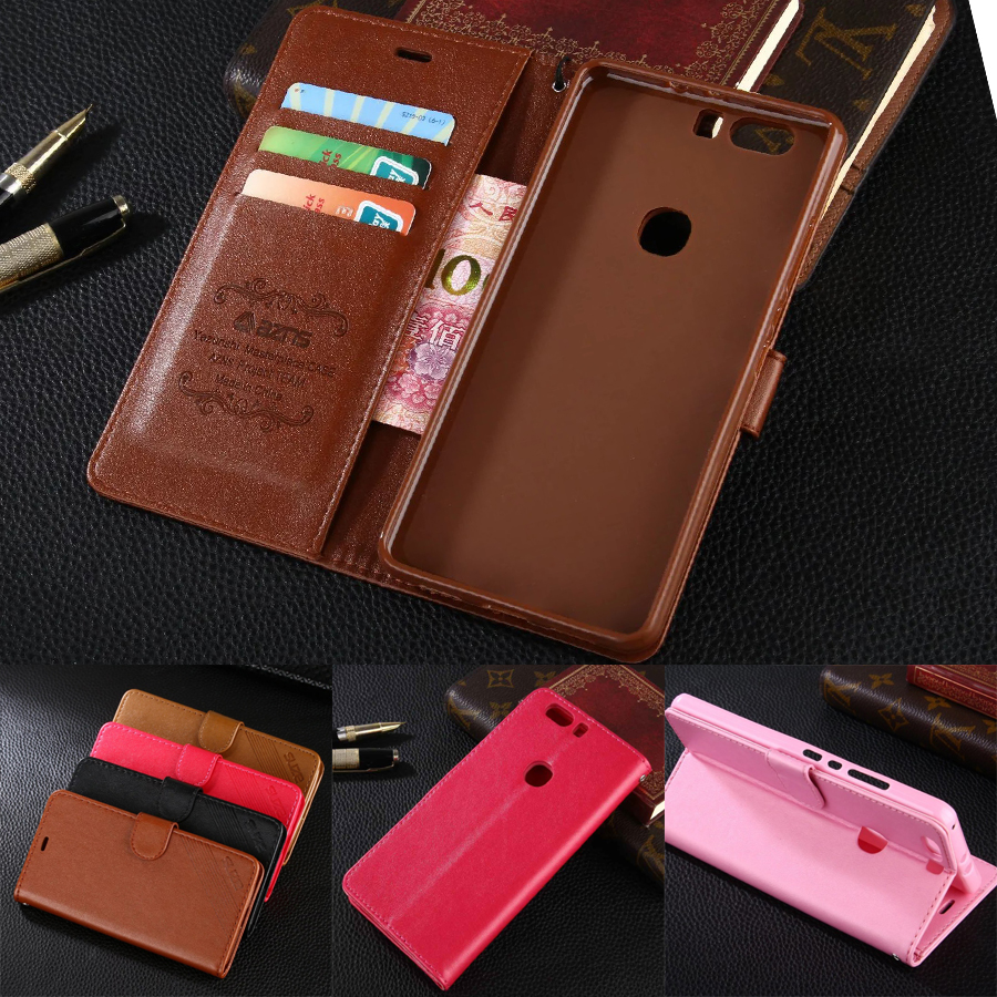 azns Case For Huawei Honor V8 5.7 Luxury Wallet Leather Case Stand Flip Card Hold Phone Cover Bags For Huawei Honor V8