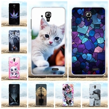For Lenovo A536 A358T Cover Ultra-slim Soft TPU Silicone A 536 Case Animal Patterned Coque Capa