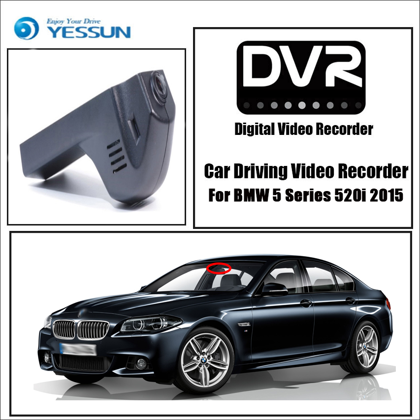 yessun for bmw 5 series 520i 2015 car dvr mini wifi camera. Black Bedroom Furniture Sets. Home Design Ideas