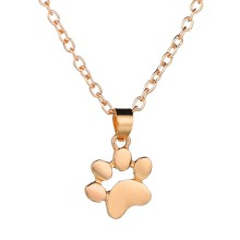 MissCyCy Mini Dog Paw Pendant Necklaces Gold Silver Color Cute Small Necklace Women's Clothing & Accessories Jewellery(China)