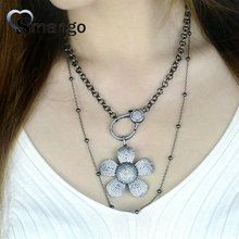 5Pieces, Women Fashion Jewelry, The Flower Shape Necklace,2 Colors,Can Wholesale