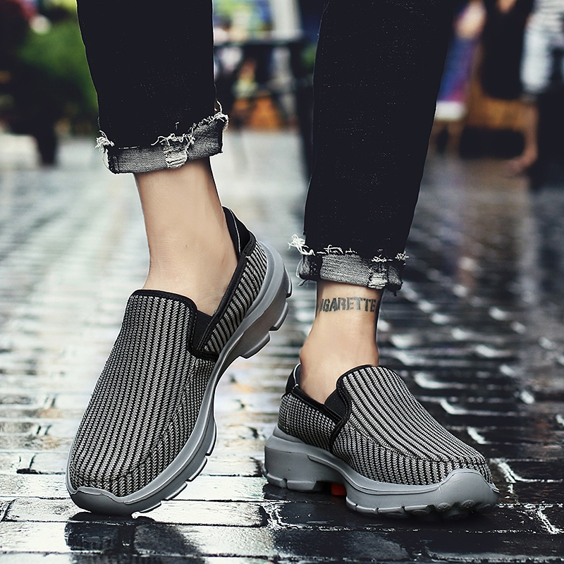 2019 Driving Shoes Men Sneakers Breathable Mesh Footwear Men Casual Shoes Outdoor Slip On Loafers Men Lightweight Shoes in Men 39 s Casual Shoes from Shoes