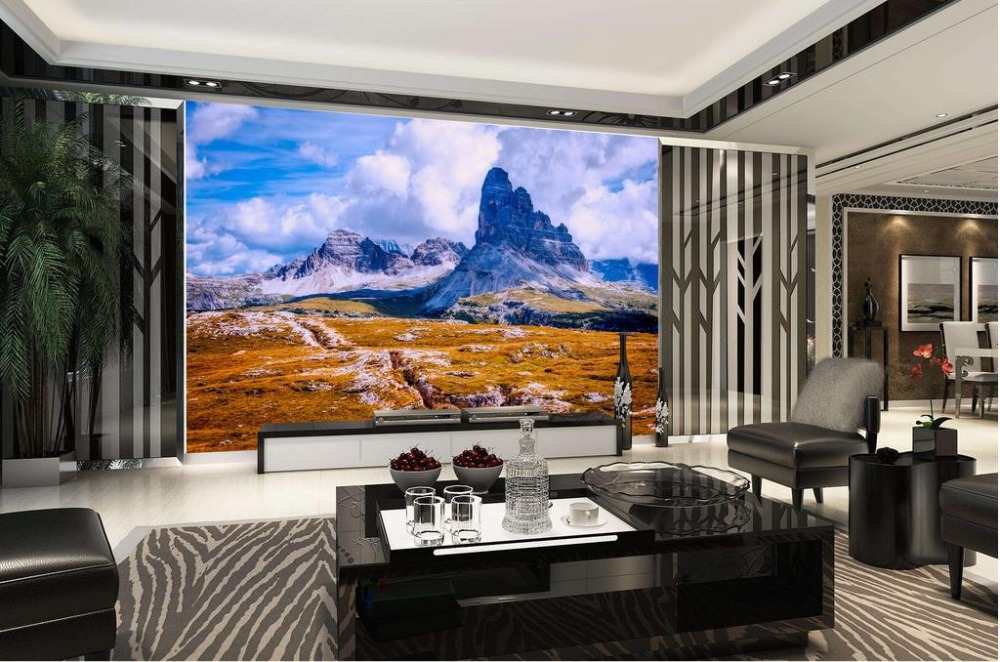 Custom wallpaper for walls 3 d photo snow mountain landscape 3d nature wallpapers for living room modern custom wallpaper for walls 3 d photo wall mural pastoral country road tv walls 3d nature wallpapers for living room
