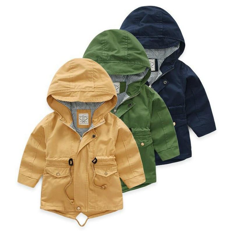 För 2-9 år Baby Boy Jacka Coat Kids Hooded Windbreaker Bomull - Barnkläder - Foto 2