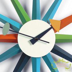 SUNBURST continental mody twórczej dekoracji salonu zegar projektant słońce zegar w Zegary ścienne od Dom i ogród na