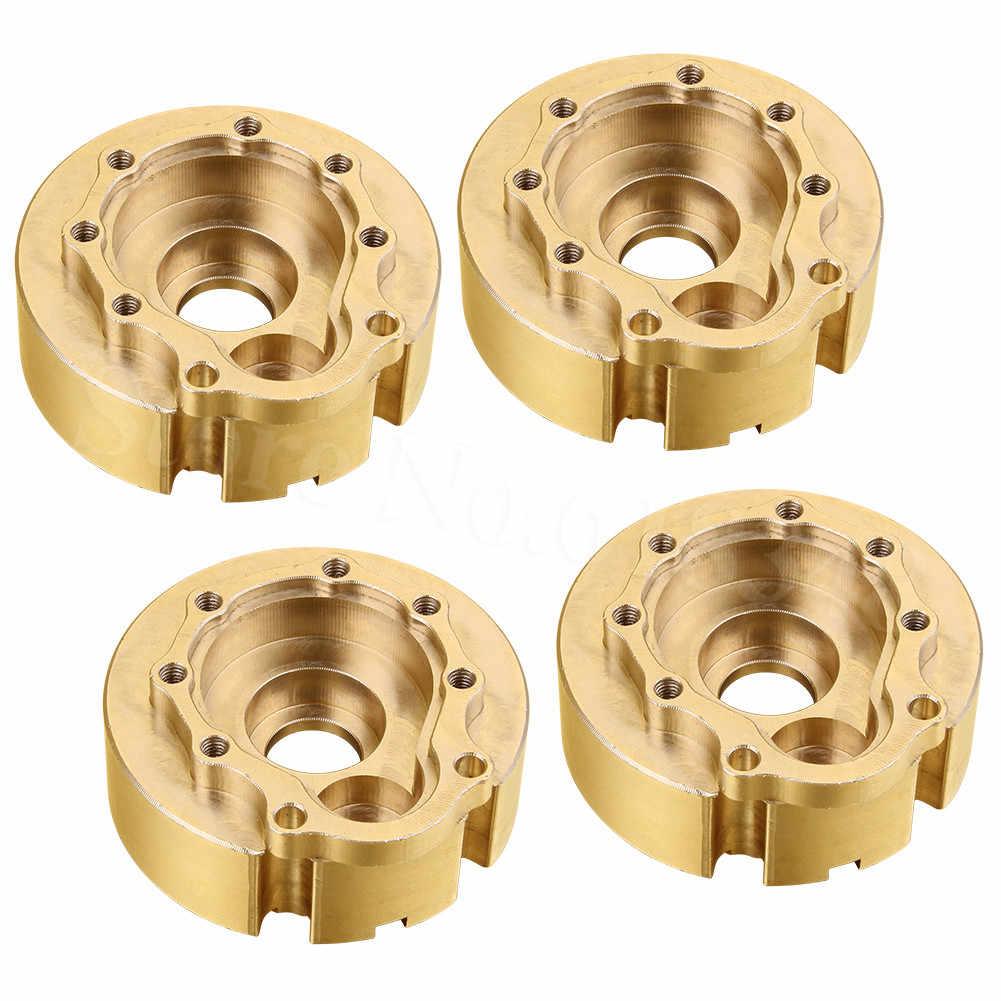 4 pcs TRX4 Messing Tegengewicht Balans Gewicht Steering Block Wiel Knuckle voor 1/10 RC Crawler Traxxas TRX-4 Upgrade Onderdelen