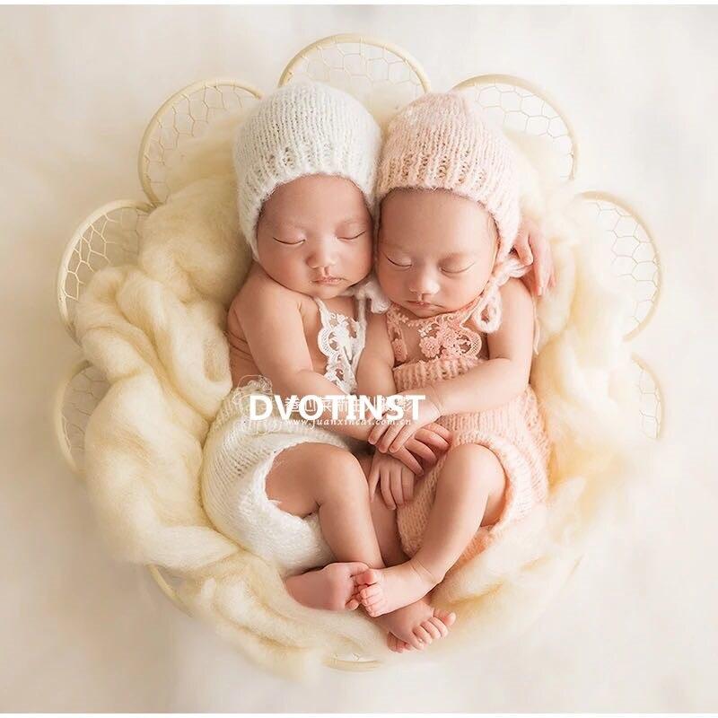 Accessoires de photographie de bébé panier de fer décoration ShowerGift Fotografia accessoires Infantil enfant en bas âge Studio photographie accessoires