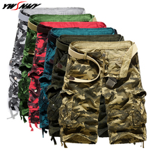 Casual Cargo Shorts Men 2020 New Loose Cool Camouflage Mens Overalls Breeches Summer Quality Cotton Brand Clothing