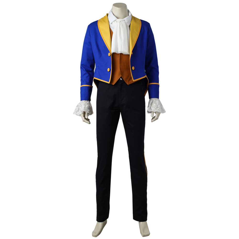 Beauty and the Beast Cosplay Beast Prince Adam Costume Suit Halloween Carnival Cosplay Costume For Men 3728