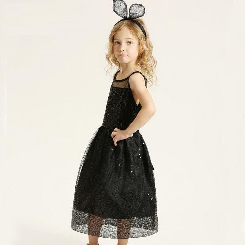 Aliexpress.com : Buy Girls clothes Sequins bowknot princess dress ...