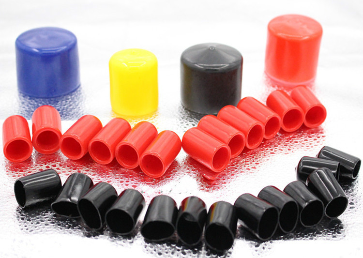 Pvc rubber cap cylinder plug thread protection