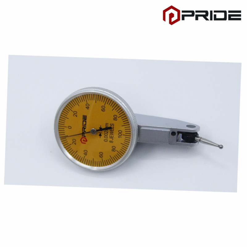 Dial Test Indicator dial gauge dial indicator gauge Range 0-0.2mm Graduation 0.002mm guanglu dial indicator 0 0 8mm 0 01mm dial test indicator dial test gauge measurement instrument measure tools