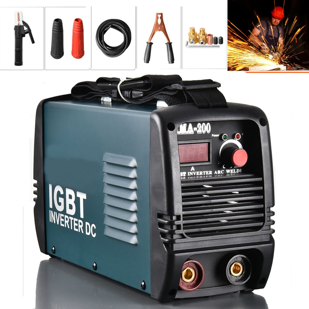 Everpower Welding Machine Inverter Arc Welding General Metal MMA Electric Welder Equipment IGBT 200A DC Free Gift цена