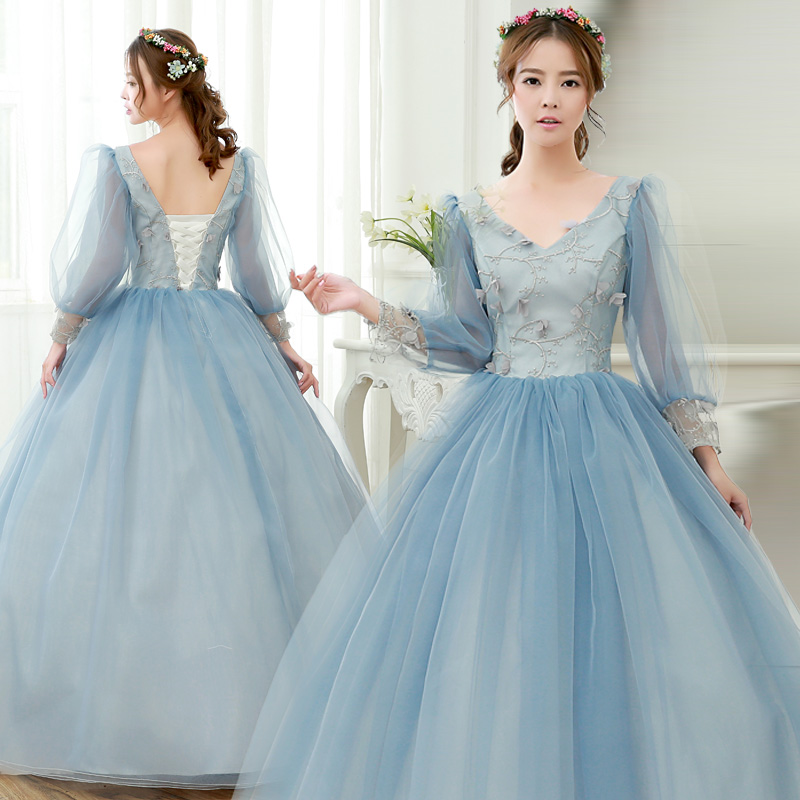2017 Free Shipping Strapless Wedding Dresses Grey Wedding Ball Gowns ...