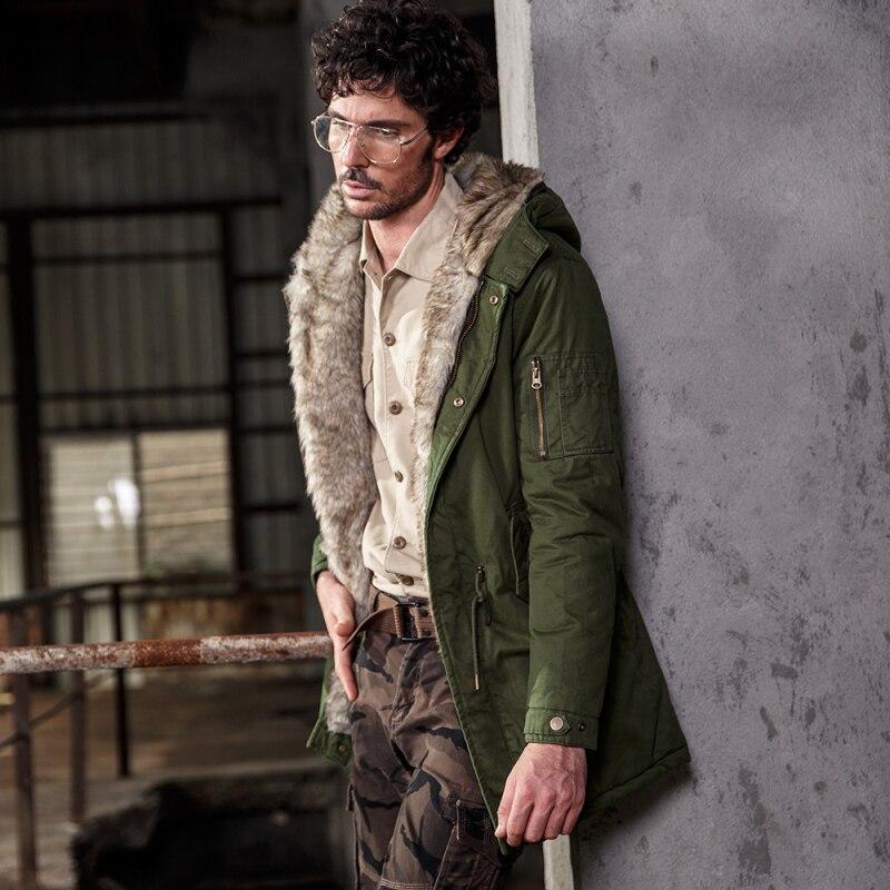 2017 winter jacket men coat down jacket with fur hood Handsome Removable parka men Cotton-Padded masculine jacket Plus Size 912