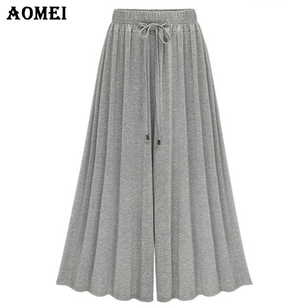 Women's Clothing Bottoms 2019 Women High Waist Pleated Pants Wide Leg Flare Clothes Ladies Casual Loose Long Trousers Summer Costume Fashion New Hot Sale