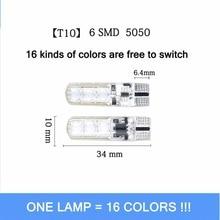 T10 RGB Led Lights Clearance SMD Led Bulb Remote Indoor Width Lighting Source Car Parking Light