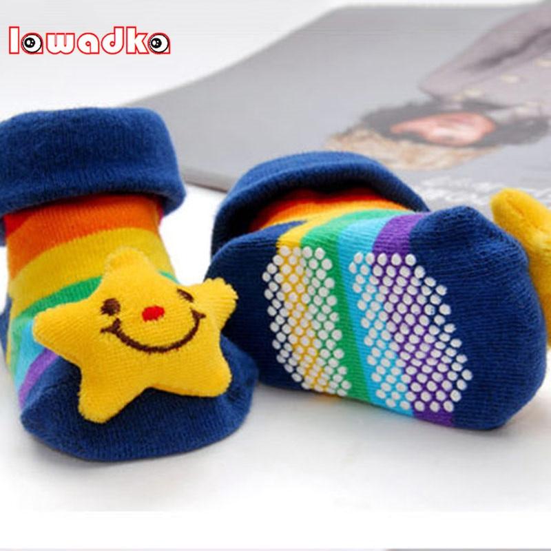 Newborn 0-18Month Cotton Lovely Animal Socks 18 Styles Cartoon Slipper Cute Anti Slip Cotton Toddler Socks Shoes