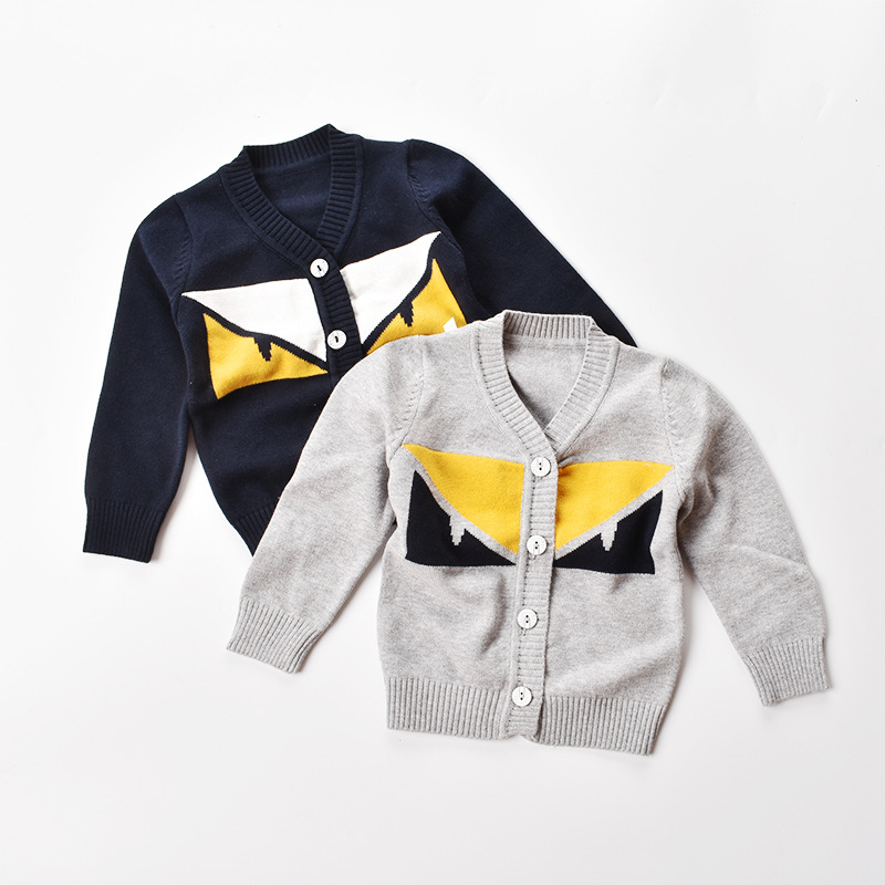 baby sweater 2017 kids Long Sleeve cardigan for boys sweater children Winter Toddler Baby Knitted Tops
