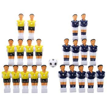 Mesa de fútbol para hombre de 22 Uds., jugador de fútbol para chicos, color amarillo + azul real con pelota