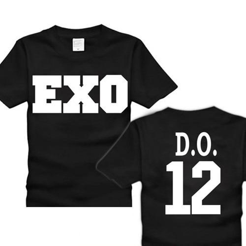 EXO Miracles KPOP WOLF 88 K&M XOXO Tees Short sleeve Shirt ...