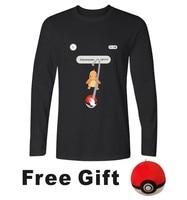 Charmander Pokemon Gaan Lange Mouw T-shirt Mannen Slim Fit T-shirts en Pokemongo Mannen TShirt Grappige in Pocket Monster Tee Shirts Lange