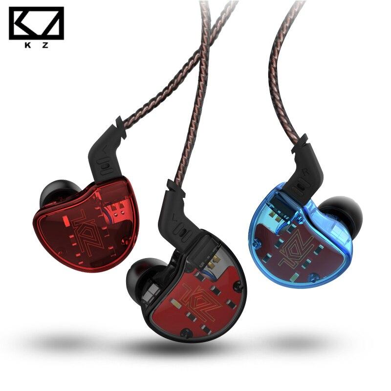 KZ ZS10 auriculares 10 conductor en auricular 4BA + 1DD dinámica armadura auriculares HiFi Bass auriculares de cancelación del ruido oído monitores híbrido - 4