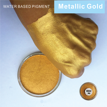 Metallic Golden 30g/pc Water Based Face And Body Paint Pigment Great Use in Festival Party Fancy Dress Beauty Makeup Tool 1