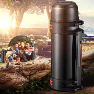Image 2 - High capacity Stainless steel thermos Fashion everyday, outdoor,automotive water thermo cup Portable insulation Vacuum cup 3L/2L