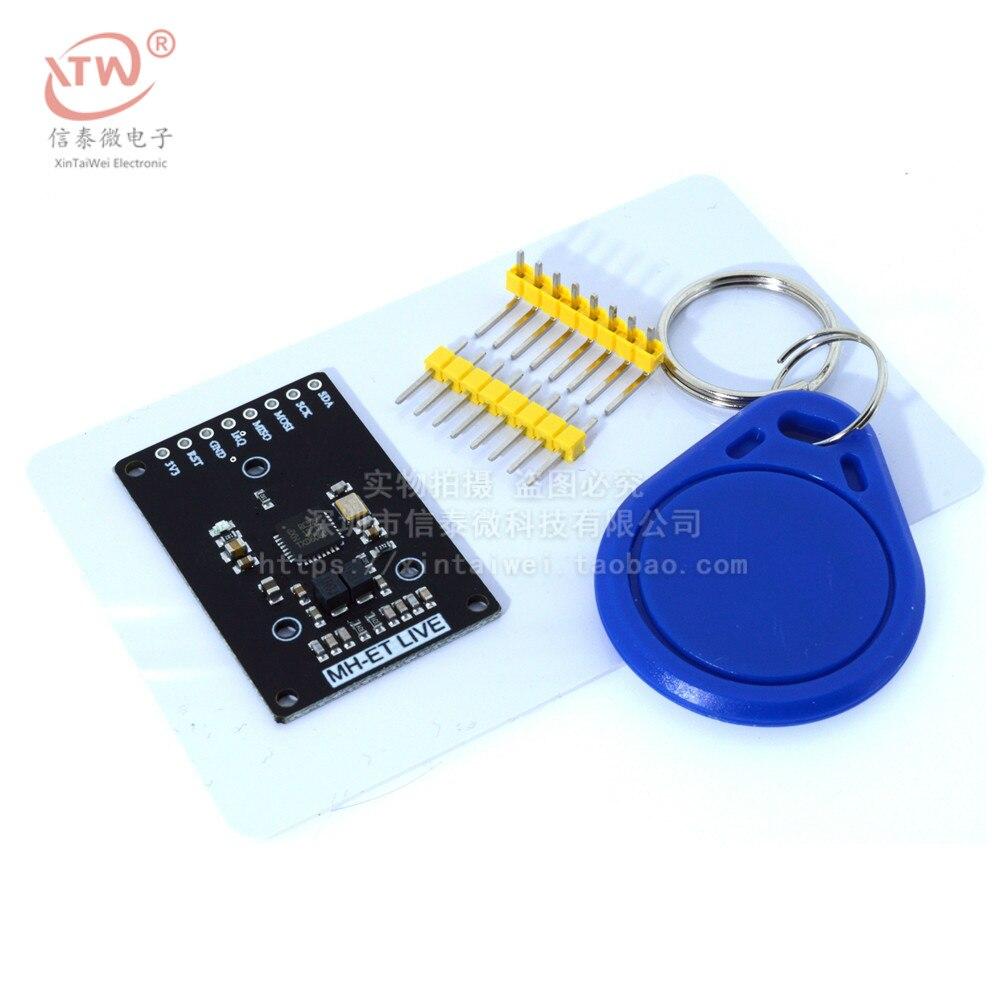 Мини RFID модуль RC522 наборы S50 13,56 МГц 6 см с тегами SPI запись и чтение для arduino uno 2560