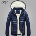 2017 New Style Warm Winter jacket Men Parka Thick Mens Casual Jackets And Coat Outwear Windbreaker Comfortable Cotton Hooded 4XL