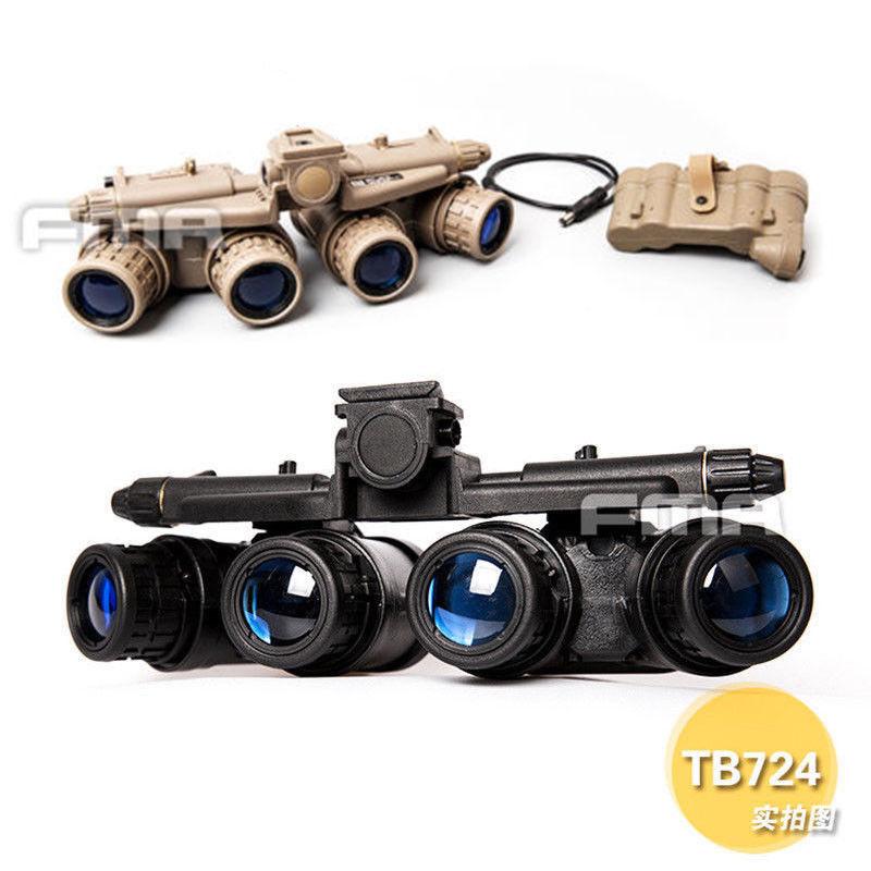 Fma Hunting Helmet Accessory Tactical Airsoft Binoculars Military Model Gpmvg 18 Night Vision Goggle Nvg Dummy Bk/de TB723 /724