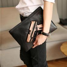 b123eaa78be Kisumater 3D Print gun bag mannen handtas designer purse beroemde mannen tas  envelop koppelingen met riem messenger tassen Grati.