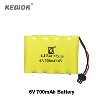 RC Monster 6V 700mAh battery Remote Control Cars accessories for Kedior 1 18 high speed rc
