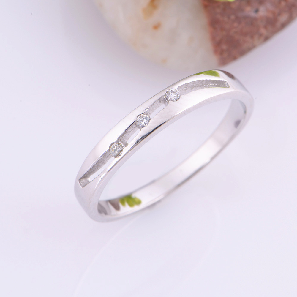 Almei Couple Ring With Stone Zircon Pair Rings Set Korean Fashion Mens Jewelry Lover Gift Wedding Accessories For Women Men J273