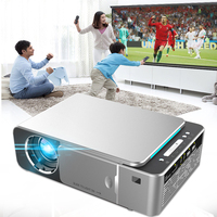 LED Portable Projector, Everycom T6 HD 720P Beamer Cinema Option Android 7.1 WiFi Support 1080p 4K Video Home Theater Projectors