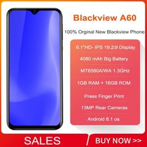 Image 2 - Blackview A60 스마트 폰 4080mAh 배터리 19.2:9 6.088 인치 1GB RAM 16GB ROM 휴대 전화 13MP + 5MP 카메라