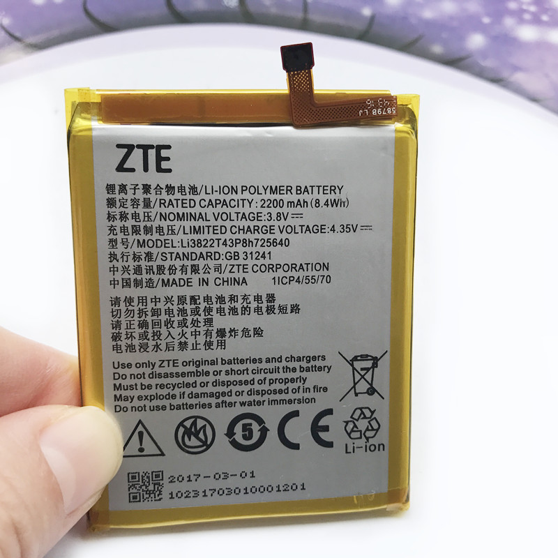 Original High Quality Battery 2200mAh Li3822T43P8h725640 For ZTE Blade A510 BA510 Cell Phone Battery