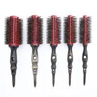 Mayitr 5 יח'\סט סיבוב זיפי מסרק שיער מתולתל שיער כלי עץ ידית מברשת שיער זיפים עגולים
