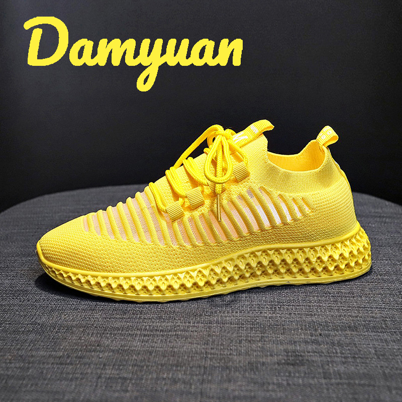 Damyuan 2020 New Fashion Classic Shoes Women Flyweather Comfortable Breathable Non-leather Casual Lightweight Flat Jogging Shoes