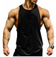 Man Stringer Singlet Tank Top Vest Bodybuilding Clothing Muscle Shirt Workout Vest Cotton Undershirt Plus Size