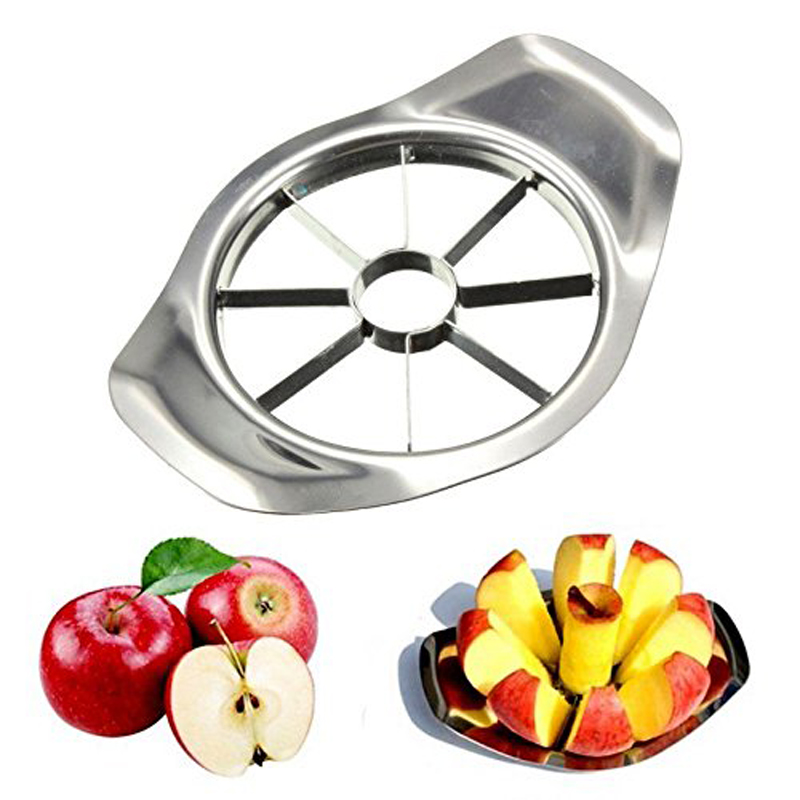 Kitchen Gadgets Stainless Steel Apple Cutter Slicer Vegetable Fruit Tools Kitchen  Accessories(China)