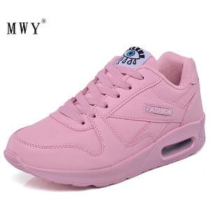 Image 2 - MWY baskets en cuir pour femmes, chaussures à plateforme, blanches, à la mode hiver chaussures décontractées