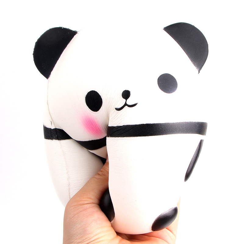 Automobiles Collectibles Jumbo Squishy Kawaii Panda Bear Egg Candy Soft Slow Rising Stretchy Squeeze Kid Toys Relieve Stress Phone Straps Children Gifts Traveling
