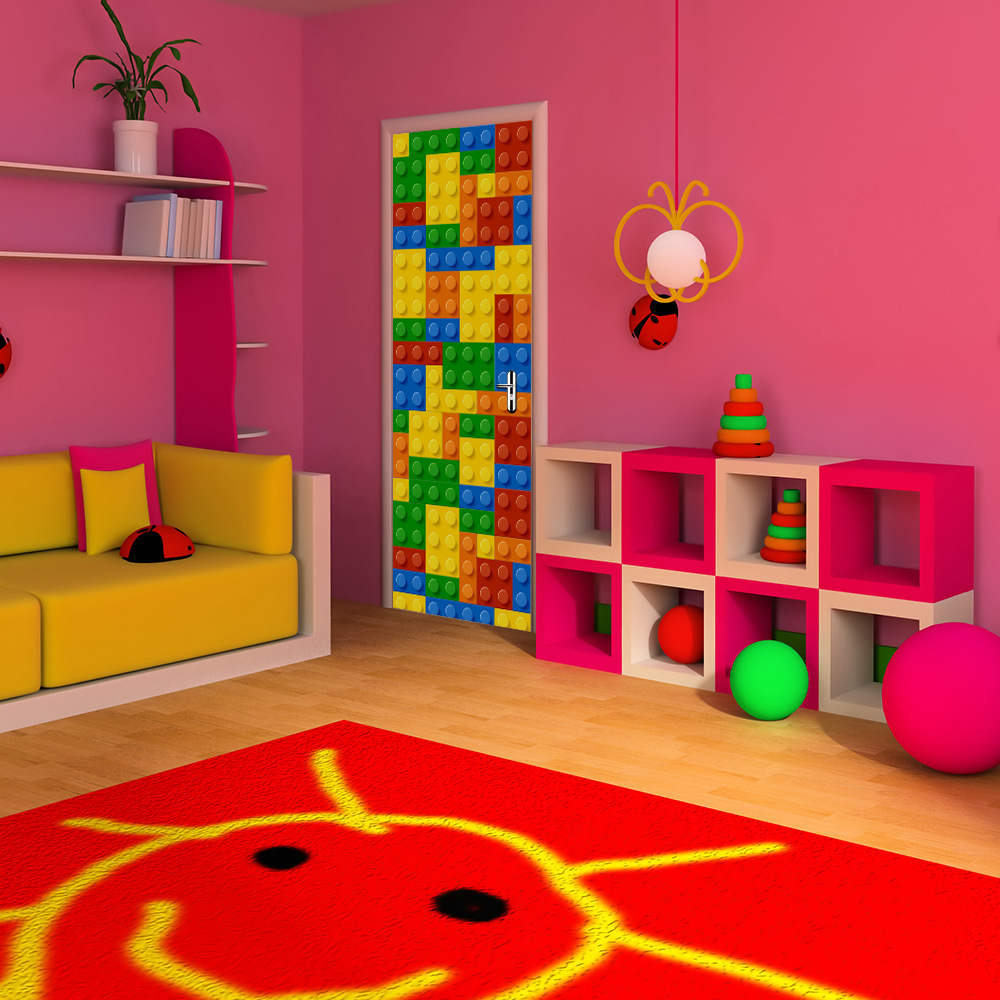 lego furniture for kids rooms. Building Blocks Children LEGO Door Wall Stickers For Kids Rooms Decorations Creative Self Adhesive Refurbished Stickers-in From Home Lego Furniture