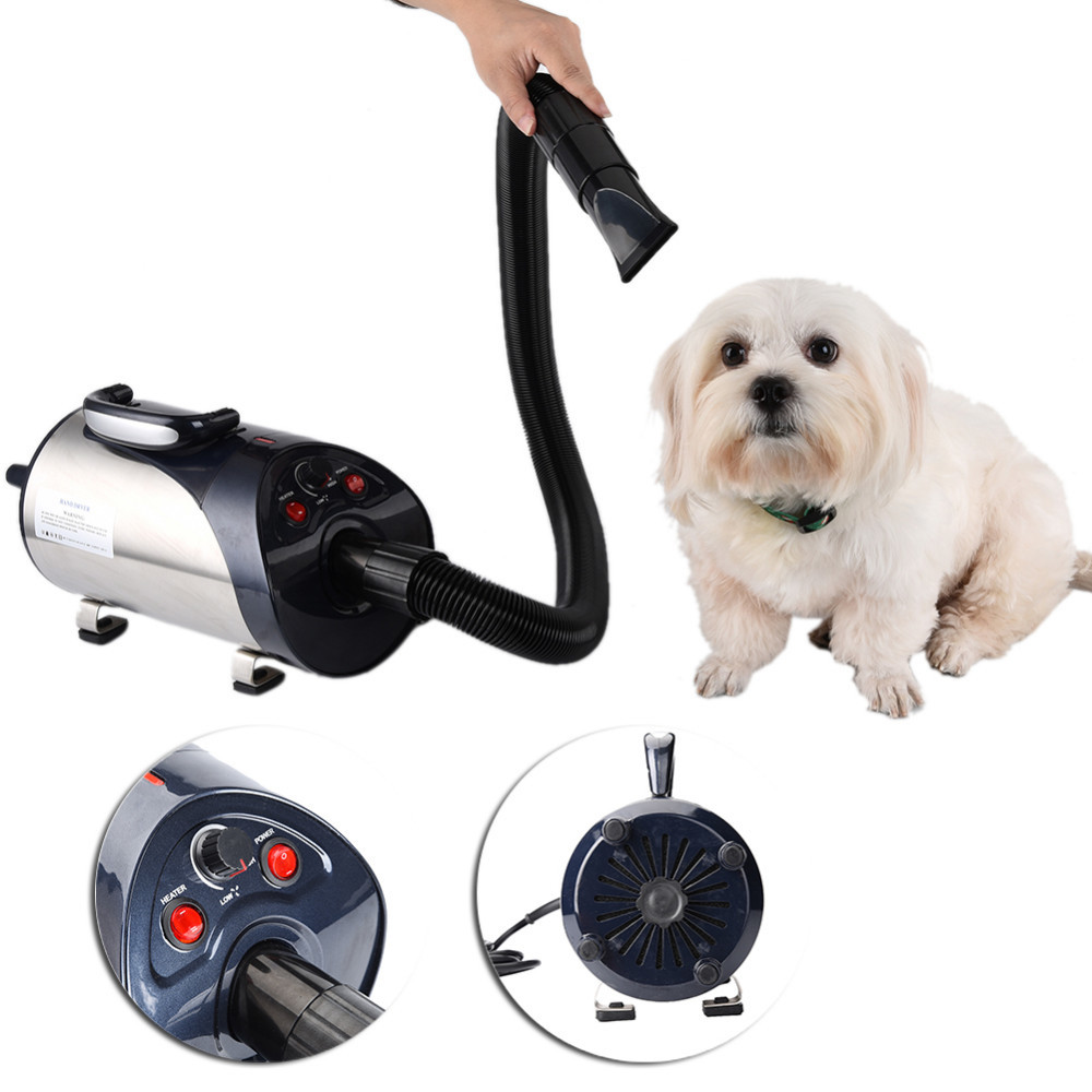 Dog Dryer Quiet Hair Dryer With Nozzle for Pets Dog Cat Pet Force Dryer Heater 2800W plastic hair trimmer comb for pets dog cat green
