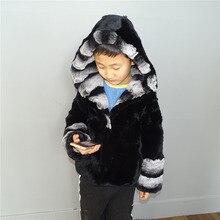 Детская одежда Шиншилла действительно Lexus женские с мехом кролика пальто с мехом натурального меха Кепки