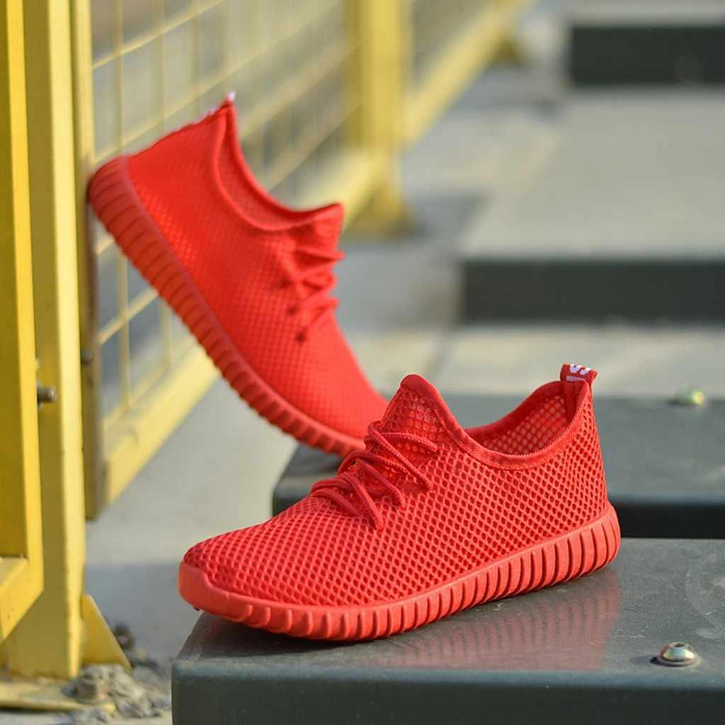 Donne scarpe da corsa luce esterna ammortizzazione scarpe da tennis Lace-up mesh traspirante scarpe sportive scarpe casual non-slip Signore a piedi scarpe
