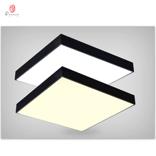 Modern Aluminum Ceiling Light Simple Square LED Hanging Lights Fashion Office Bedroom Kindergarten Shop Black& White Lighting