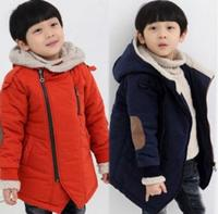 2016 New Brand Autumn Winter Kid S Fashion Casual Jackets Boy S Cashmere Long Sleeve Hooded